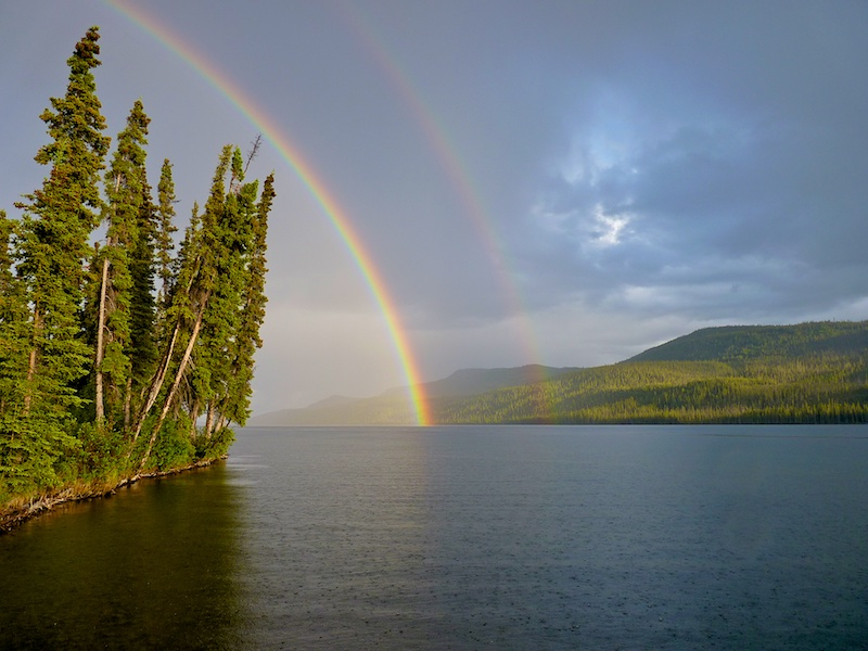 Rainbow over Lake